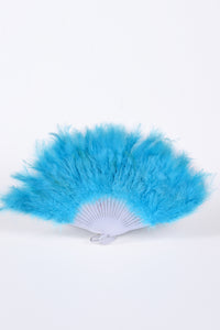 Fuzzy Fur Fan - Baby Blue