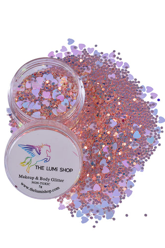 High Quality Hand-mixed Festival Makeup Glitters (Face | Hair | Body) - Barbie Pink