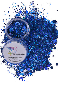 High Quality Hand-mixed Festival Makeup Glitters (Face | Hair | Body) - Blue Ocean