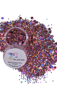 High Quality Hand-mixed Festival Makeup Glitters (Face | Hair | Body) - Pinky Disco
