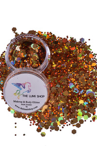 High Quality Hand-mixed Festival Makeup Glitters (Face | Hair | Body) - Goddess Gold
