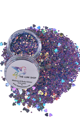 High Quality Hand-mixed Festival Makeup Glitters (Face | Hair | Body) - Violet Garden