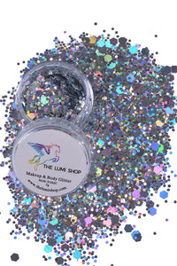 High Quality Hand-mixed Festival Makeup Glitters (Face | Hair | Body) - Holographic