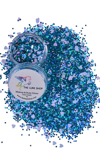 High Quality Hand-mixed Festival Makeup Glitters (Face | Hair | Body) - Dolphin Kisses