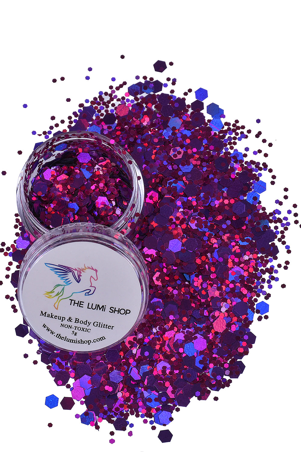 High Quality Hand-mixed Festival Makeup Glitters (Face | Hair | Body) - Lux Rose