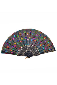 Peacock Sequin Fan - Rainbow