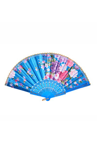 Festival Silk Fan - BB Blue Blossom