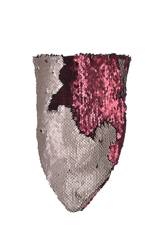 Reversible Sequin Bandana & Face Mask - Sand/Red