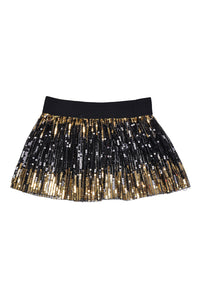 Mini Sequin Skirt - Black & Gold