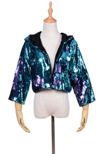 Reversible Sequin Jacket - Blue & Purple