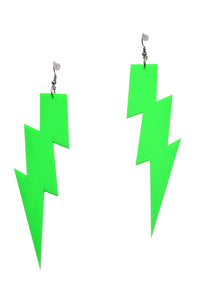 Neon Green Flash Earrings