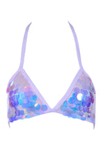 Iridescent Unicorn Tears Sequin Bralette