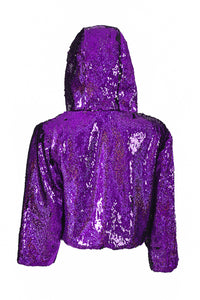 Sequin Cropped Jacket - Mystery