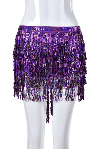 Reversible Sequin Skirt - Violet Orchid
