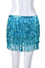 Holographic Tassel Sequin Skirt (8 Colors)