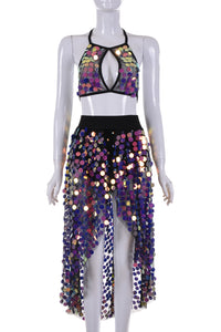 OUTFIT Dream Electric Lavender Sequin Set (2 Pieces)