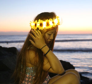 ORIGINAL LED Flower Crown - Sunflower
