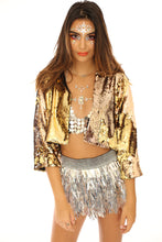 Reversible Sequin Jacket - Gold & Silver