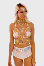 Iridescent Chain Harness Belt