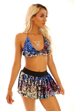 Oceanside Sequin Bikini Top