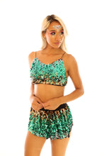 Green Unicorn Mini Sequin Skirt