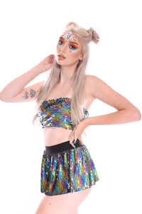 Rainbow Star Reversible Sequin Skirt
