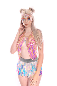 Unicorn Tears Mini Sequin Skirt