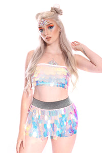 Reversible Sequin Set (Tube Top & Skirt) - Small Unicorn Tears
