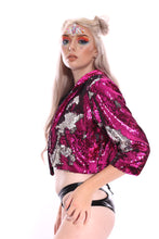 Reversible Sequin Jacket - Pink