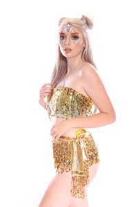 Palace Queen Sequin Tube Top