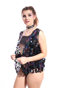 Dark Ocean Sequin Vest