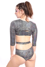 Anaconda Buckle Up Sleeve Crop Top