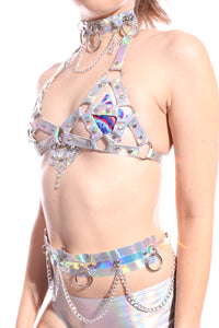 Holographic Chain Hoop Belt