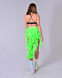Neon Green Elf Long Skirt