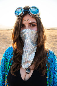 Sequin Bandana & Face Mask - Holographic