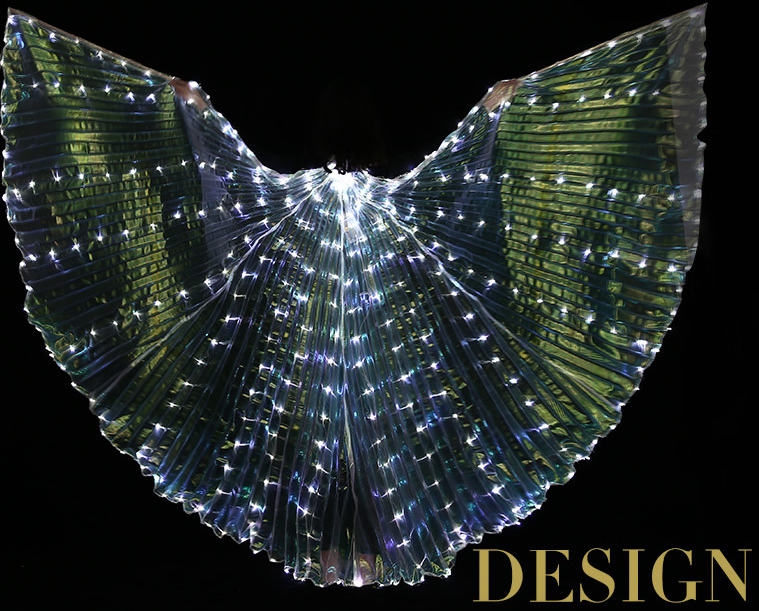 Iridescent White Led Butterfly Wings 300 Lights