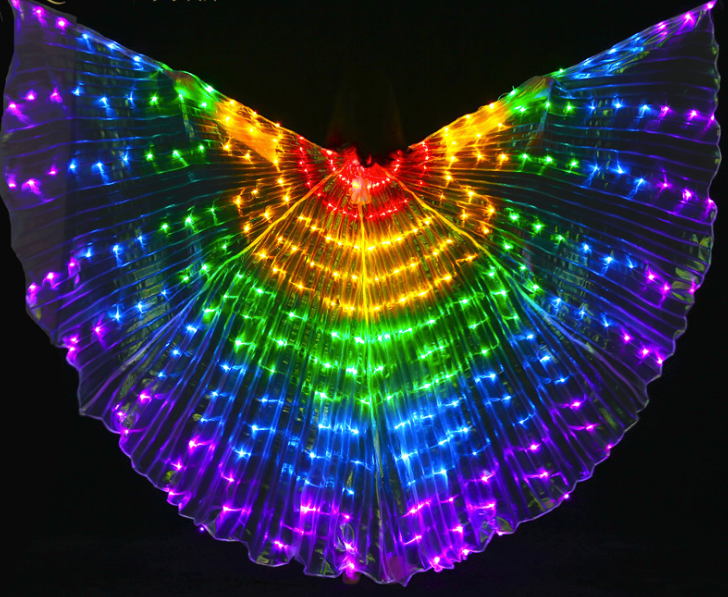 Rainbow LED Butterfly Wings (300 Lights, Batteries Not Included)