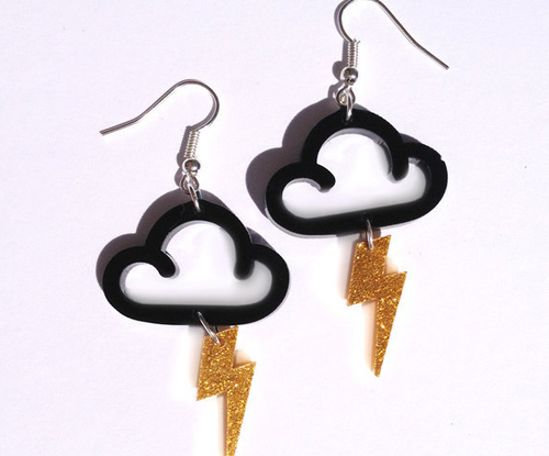 Little Cloudy Flash Earrings