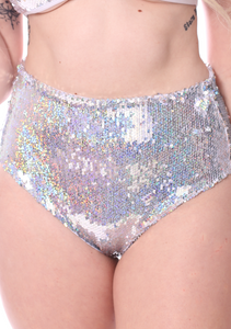 Shimmer Star Sequin High Waisted Bottom