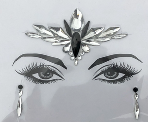 Black Angel Rhinestone Crystal Face Jewels