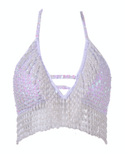 Hand-Stitched Sequin Bra Top - Techno Doll