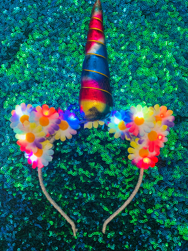 Original LED Ears - Rainbow Unicorn