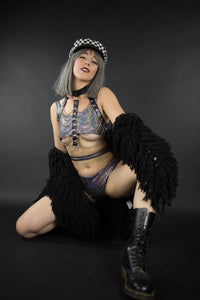 Black Angel - Leather Chain Harness
