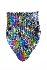 Sequin Bandana & Face Mask - Cosmic Rainbow