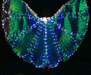 Electric Daisy Iridescent m LED Butterfly Wings (300 Lights, Batteries Not Included)