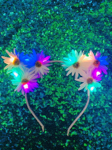 Original LED Ears - Rainbow Kitty