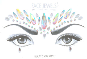 Swan Rhinestone Crystal Face Jewels