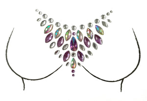 Flamingo Rhinestone Crystal Body Jewels, Chest Jewels