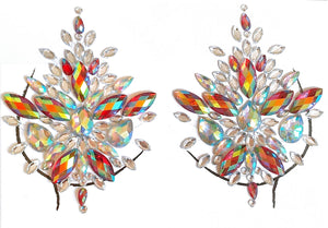 Queen Rhinestone Crystal Jewel Pasties, Body/Chest Jewels