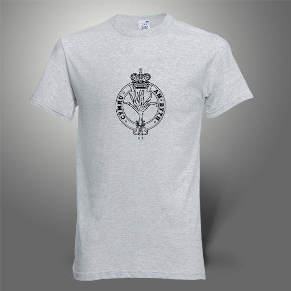 The Welsh Guards T-Shirt 100% Cotton heather grey